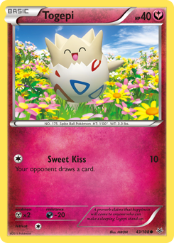 Togepi card for Roaring Skies