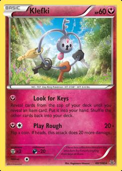 Klefki card for Roaring Skies