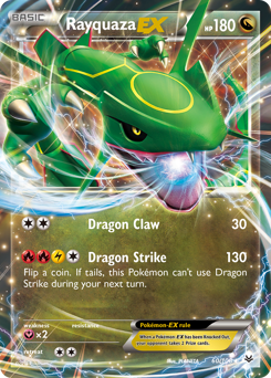 Rayquaza-EX card for Roaring Skies