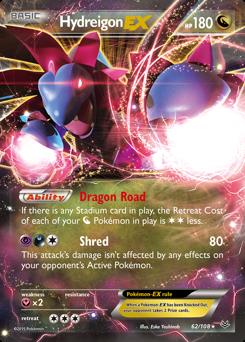 Hydreigon-EX card for Roaring Skies