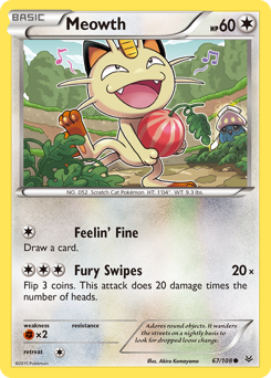 Meowth card for Roaring Skies