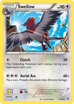 Swellow card for Roaring Skies
