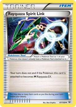 Rayquaza Spirit Link card for Roaring Skies