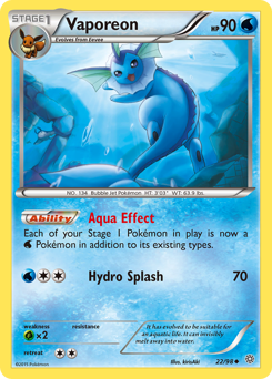 Vaporeon card for Ancient Origins