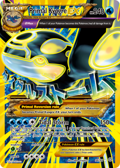 Primal Kyogre-EX card for Ancient Origins