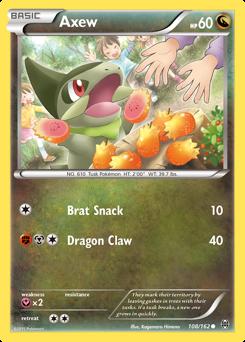 Axew card for BREAKthrough