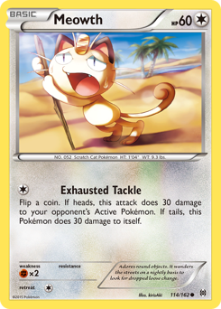 Meowth card for BREAKthrough