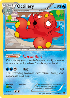 2 EVO Pokemon Cards OCTILLERY /& REMORAID MYSTERIOUS TREASURES REV HOLO-MINT