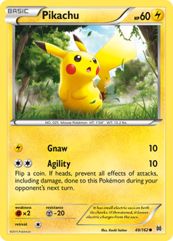 Pikachu card for BREAKthrough