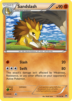 Sandslash card for BREAKthrough
