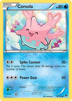 Corsola card for BREAKpoint