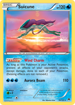 Suicune card for BREAKpoint
