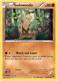 Sudowoodo card for BREAKpoint