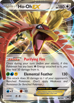 Ho-Oh-EX card for BREAKpoint